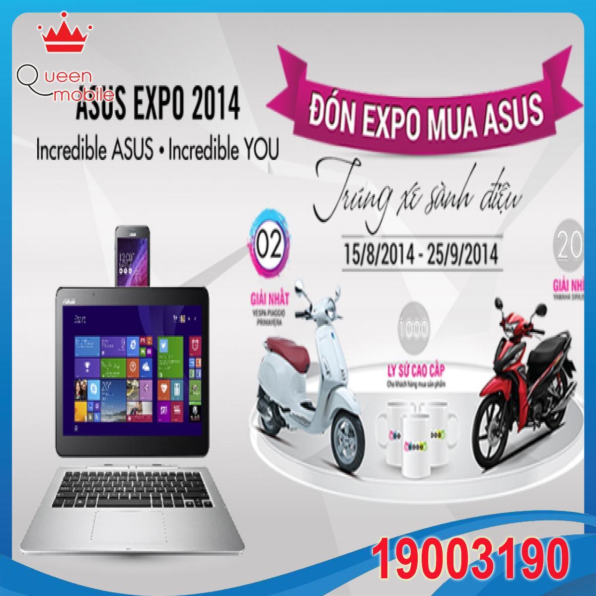 Chào đón Asus Expo mua Asus trúng xe sành điệu