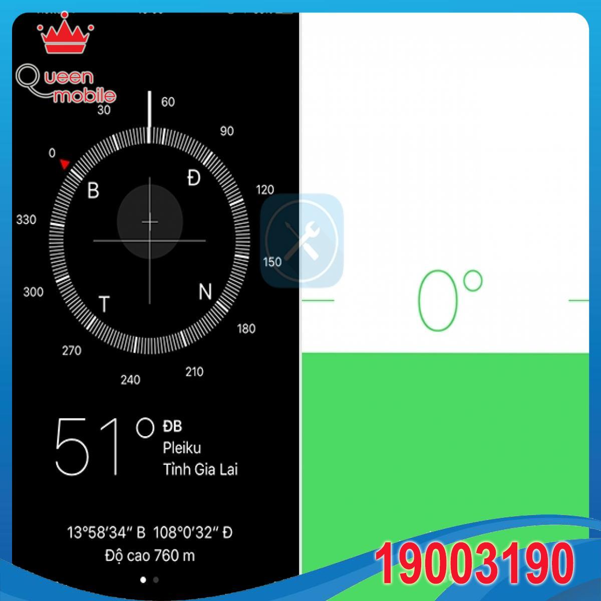 Biến ứng dụng La bàn trên iPhone thành thước đo thăng bằng cực chuẩn