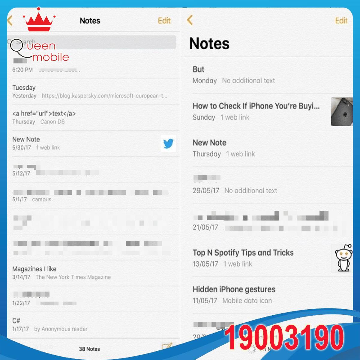 iOS-10-vs-iOS-11-ghi-chu