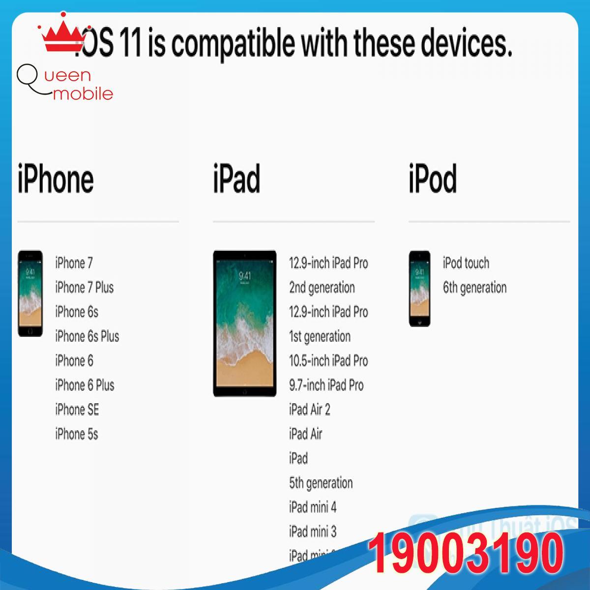 Thiết bị của bạn có thể chạy được iOS 11 không?
