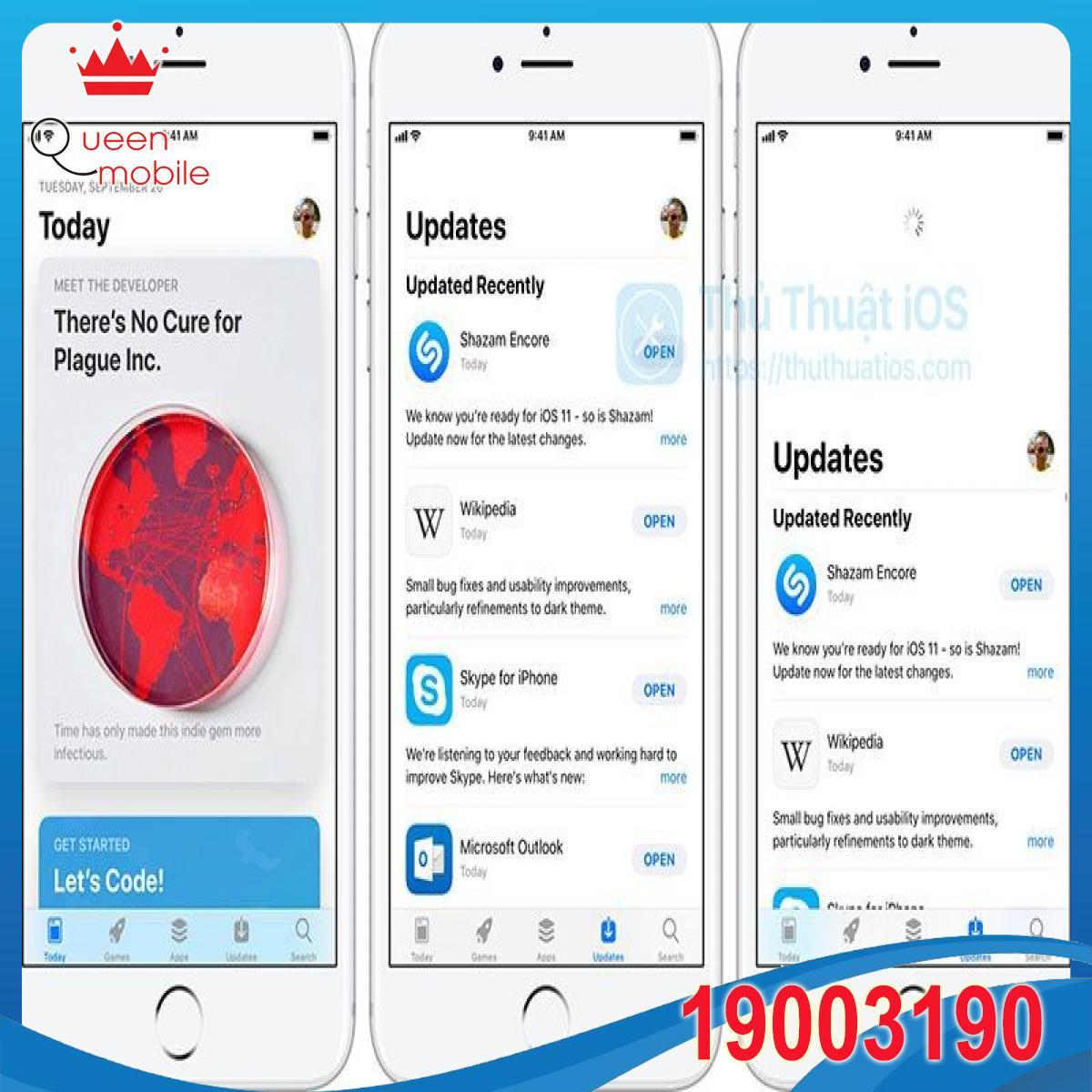 Hướng dẫn làm mới tab Cập nhật trong App Store trên iOS 11