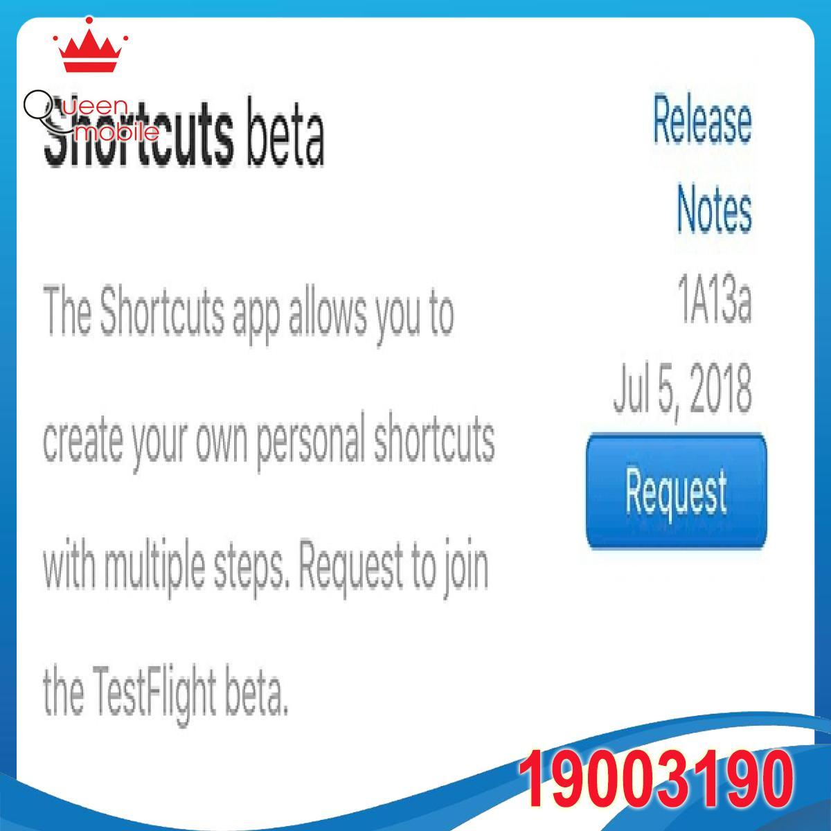 Apple giới thiệu ứng dụng Shortcuts beta dành cho nhà phát triển