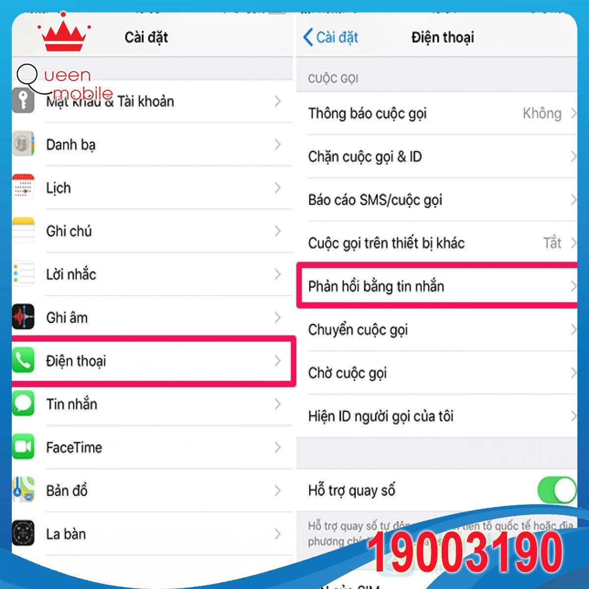 Cách thiết lập và sử dụng tính năng 'Phản hồi bằng tin nhắn' trên iPhone