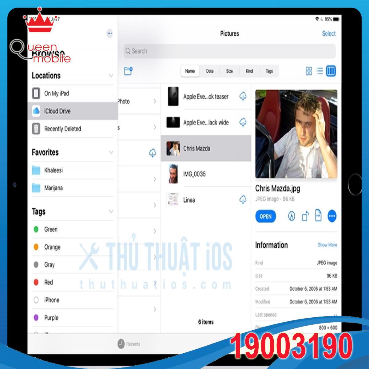 IPadOS và iOS 13 đã hỗ trợ ổ cứng ngoài, chia sẻ thư mục iCloud, chế độ xem cột cho Tệp,…