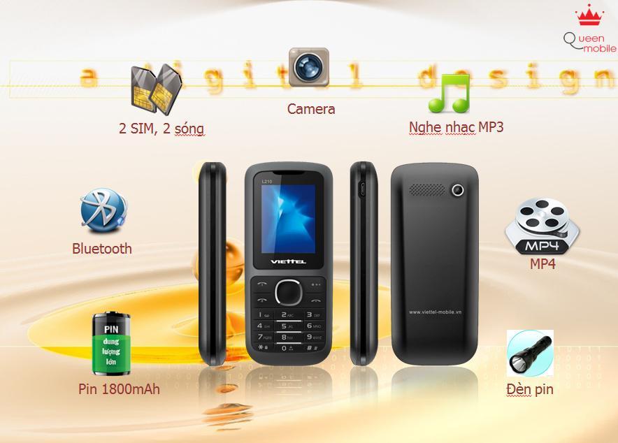 Viettel ra mắt điện thoại Pin khủng L210