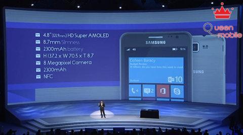 Samsung công bố điện thoại Windows Phone 8 đầu tiên có tên Ativ S