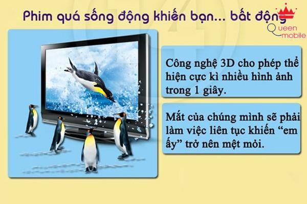 Cách bảo vệ mắt khi xem tivi 3D