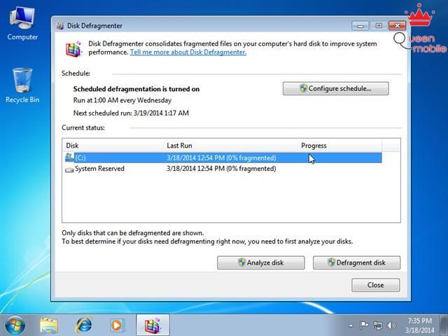 Chống phân mảnh HDD, tăng tốc máy tính