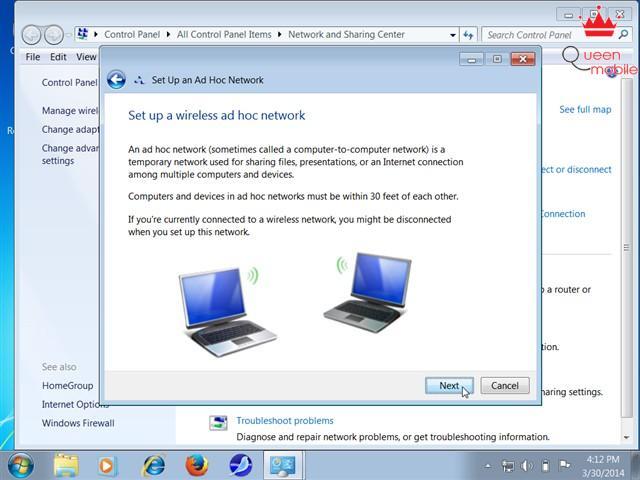 Chia sẻ mạng Wi-Fi bằng laptop trên Windows