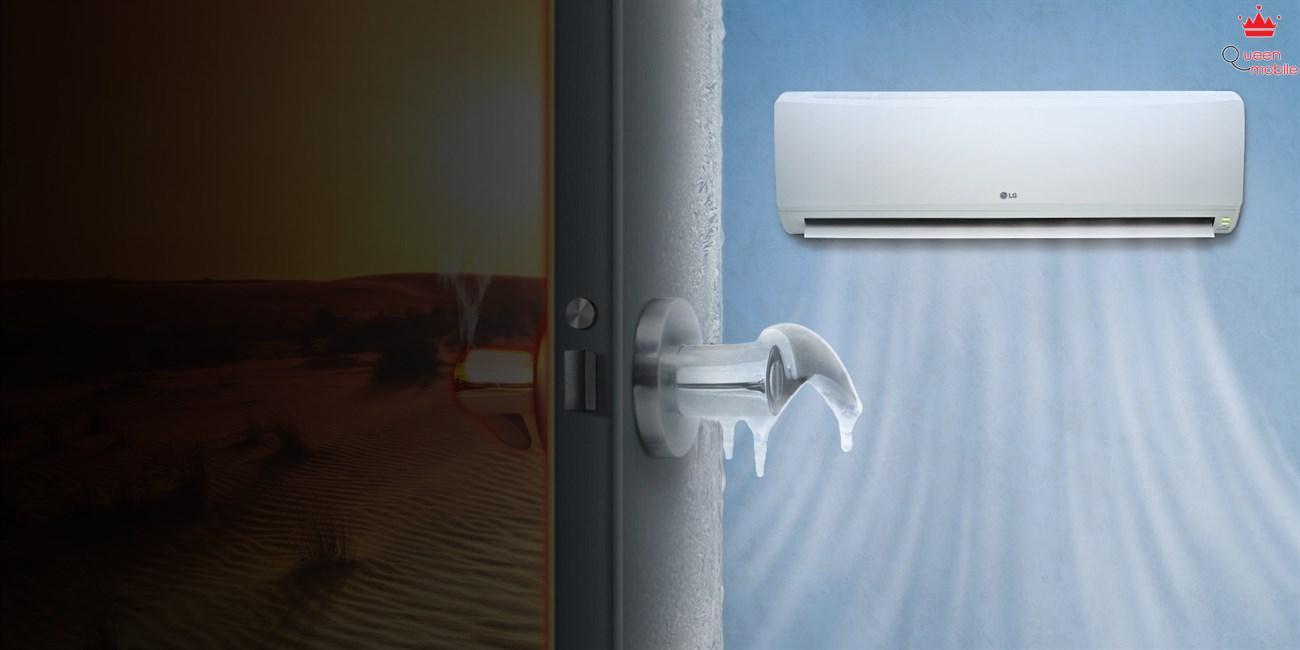 Đóng kín cửa khi sử dụng máy lạnh