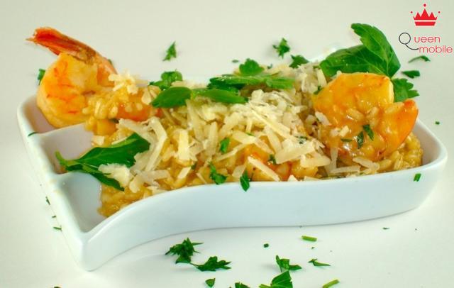 Cách làm món cơm Risotto chanh tôm bằng nồi cơm điện