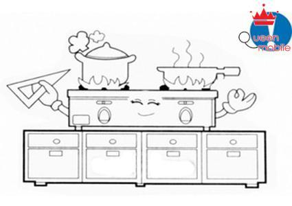Đặt bếp trên mặt phẳng, bàn đặt bếp phải lát đá hay bàn inox, không sử dụng bàn gỗ.