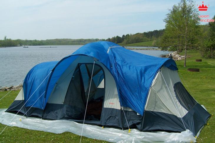 Hút sạch bụi trong lều khi ra ngoài dã ngoại
