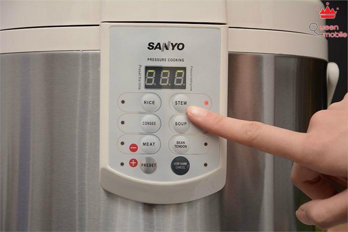 Nồi áp suất điện Sanyo ECJ-DY509MPA có tới 6 chế độ nấu