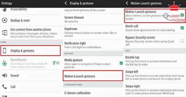 Kích hoạt tính năng Motion Launch trong Settings