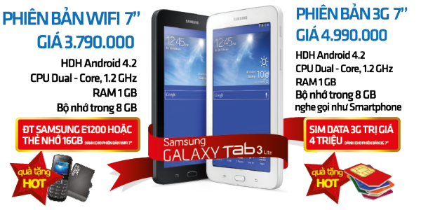 Tablet - Samsung Galaxy Tab 3 Lite