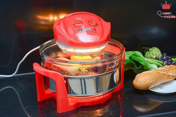 Lò nướng thủy tinh tiết kiệm điện năng, dễ dàng di chuyển