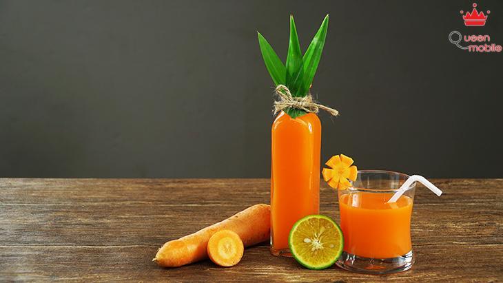 Cách làm nước ép cà rốt đẹp da, bổ mắt bằng máy xay sinh tố