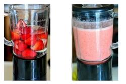 Cách làm nước ép dâu tây bằng máy xay sinh tố