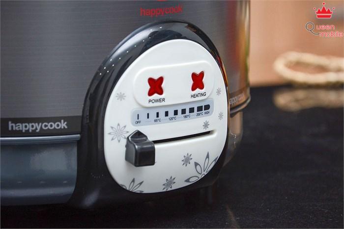 Nồi lẩu điện Happy Cook HCHP-300A điều chỉnh nhiệt độ nấu dễ dàng
