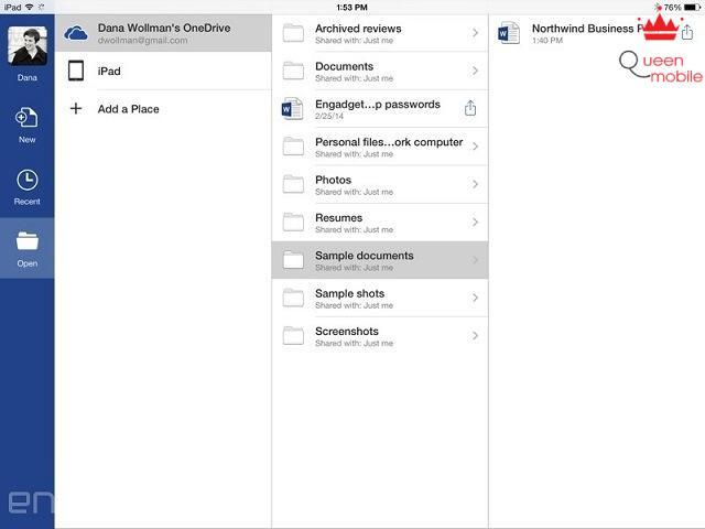 Đánh giá nhanh Office dành cho iPad