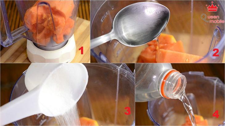 Cách làm sinh tố đu đủ bằng máy xay sinh tố