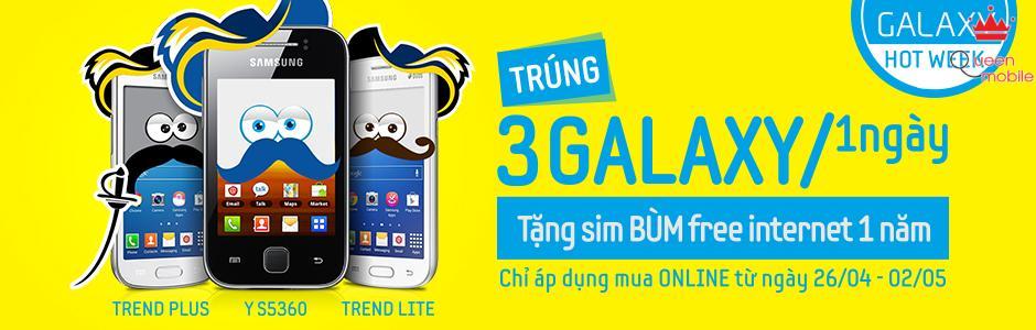 Trúng 3 điện thoại Samsung Galaxy mỗi ngày khi mua online Galaxy ngay hôm nay!!!