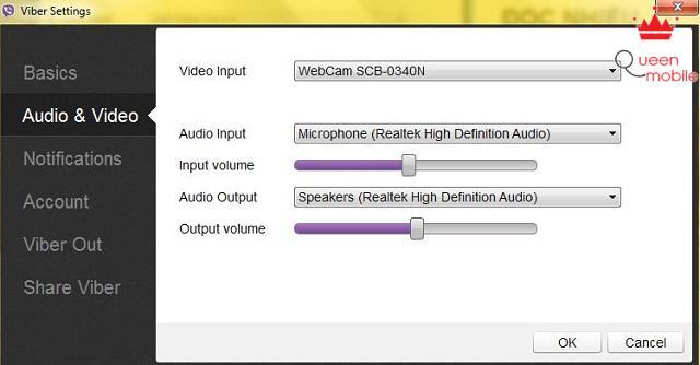 Tại đây bạn có thể chỉnh âm thanh và hình ảnh