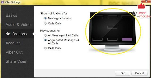 Cũng hiển thị thông báo trên màn hình PC