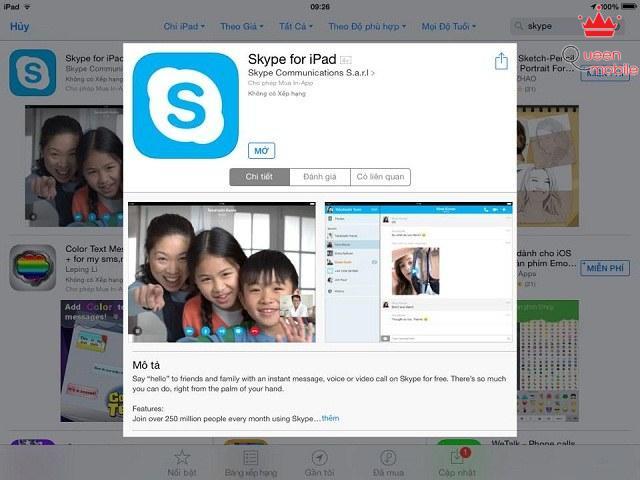 Người dùng có thể tải miễn phí Skype trên App Store