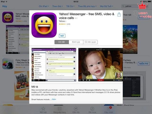 Người dùng có thể tải miễn phí Yahoo trên App Store