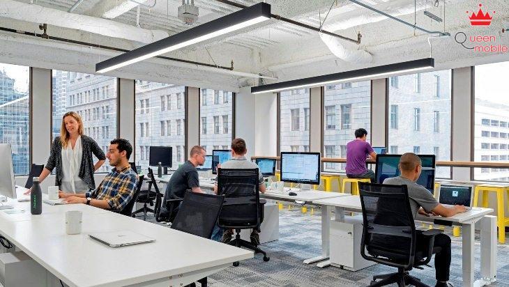 Văn phòng làm việc thường có số lượng người nhất định