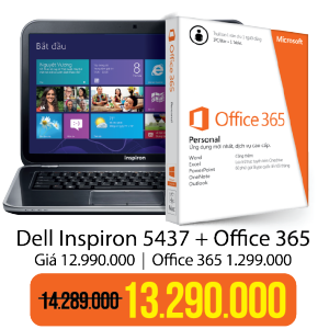 Laptop Dell Insprion 5437 Office 365