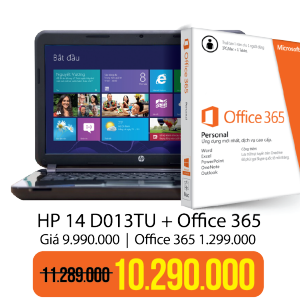 Laptop HP 14 D013TU Office 365