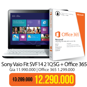 Laptop Sony Vaio Fit Office 365