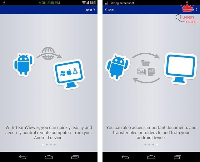 Điều khiển máy tính bằng teamviewer trên thiết bị Android