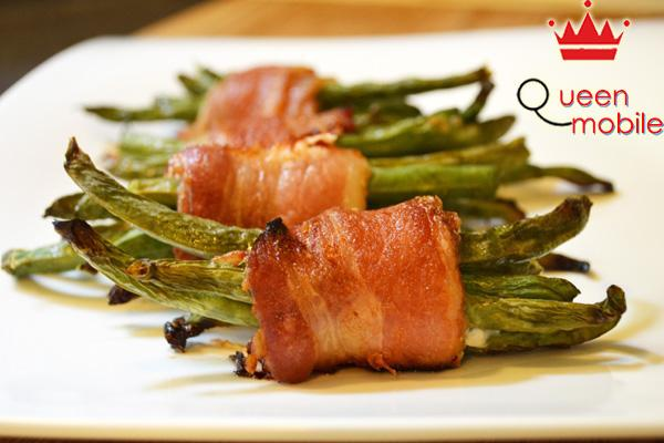 Cách làm món thịt xông khói cuốn đậu xanh bằng lò nướng