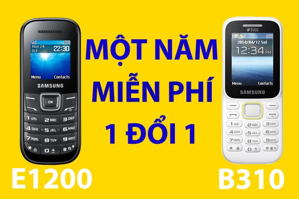Chương trình bảo hành một năm 1 đổi 1 của Samsung E1200 và Samsung Piton B310