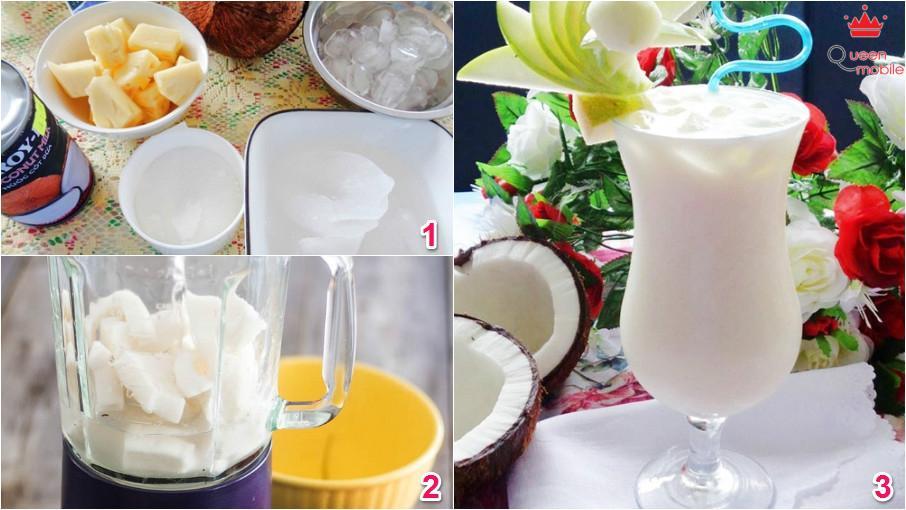 Cách làm sinh tố dừa pha thơm