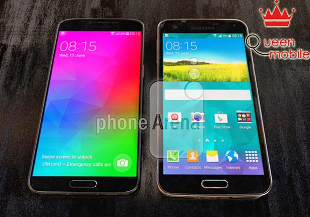 Samsung Galaxy F so dáng cùng Galaxy S5