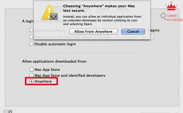 Cho phép bạn mở mọi phần mềm không xác định - Bước 4
