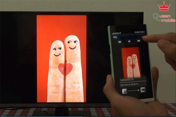 Hình ảnh khi được chia sẻ sẽ được hiển thị trên tivi