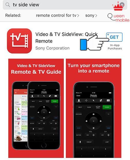 Cách dùng iPhone điều khiển tivi Sony