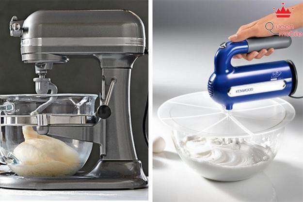 Máy đánh trứng cầm tay và máy đánh trứng để bàn chức năng tương tự nhau