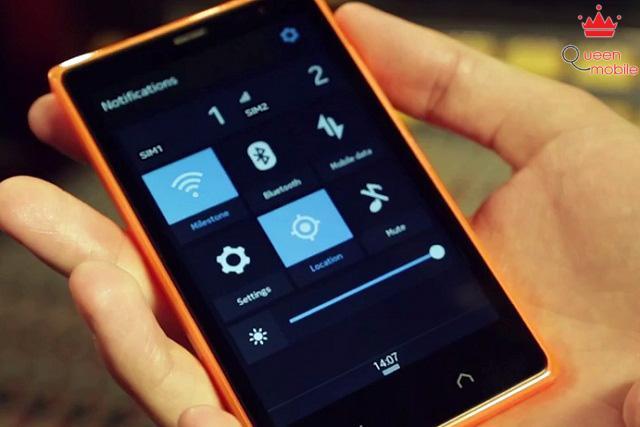Người dùng có thể nhanh chóng vào cài đặt thông qua thanh thông báo