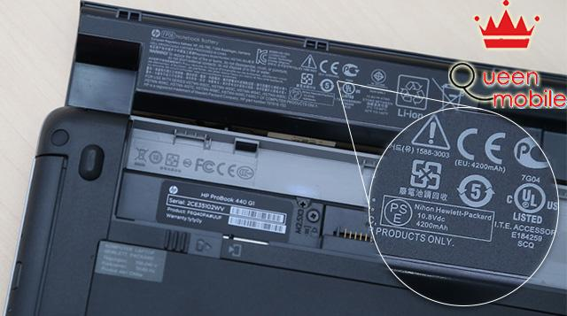 HP Probook 440 G1 có pin dung lượng 4200mAh