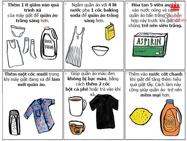 12 mẹo giúp quần áo sạch tối ưu