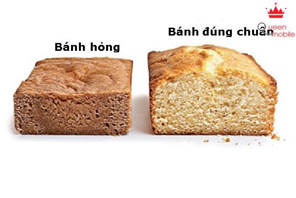 Bánh nở không đều làm bánh không được xốp, không ngon