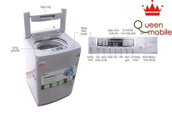 Hỗ trợ 8 chế độ giặt giũ linh hoạt