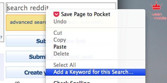 Chọn một hộp tìm kiếm trong một trang web